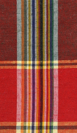 Red and yellow square fabric pattern background Stock Photo - 16683586