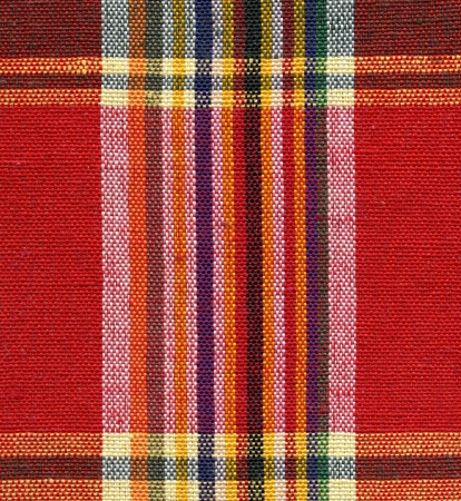 Red and yellow square fabric pattern background Stock Photo - 16683583