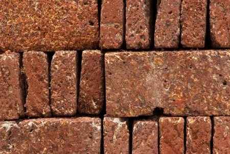Pattern, Texture, Background of Red-brown Laterite bricks  Stock Photo - 17097657