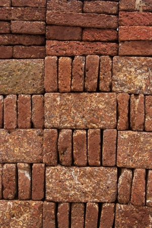 Pattern, Texture, Background of Red-brown Laterite bricks  Stock Photo - 17097668