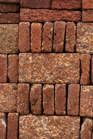 Pattern, Texture, Background of Red-brown Laterite bricks Stock Photo - 17097658