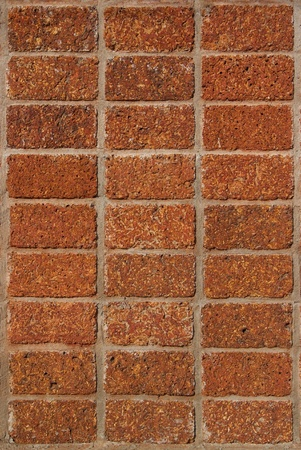 pattern red - brown color of modern style design decorative laterite stone wall surface with cement Stock Photo - 17097669