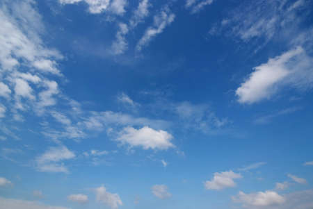 Blue sky with clouds for natural background Stock Photo
