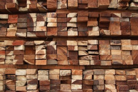 A pile of cut wood for construction   texture, background, pattren