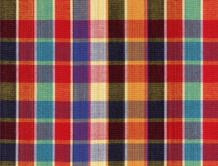 Fashion of colorful square fabric pattern background  Stock Photo