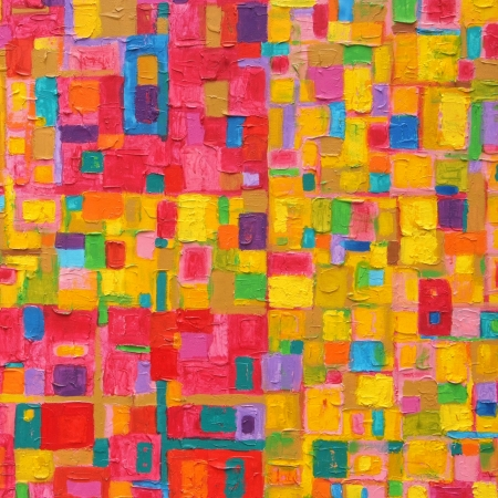 Texture, background and Colorful Image of an original Abstract Painting on Canvas  Banco de Imagens
