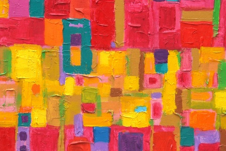 Texture, background and Colorful Image of an original Abstract Painting on Canvas  Stock Photo