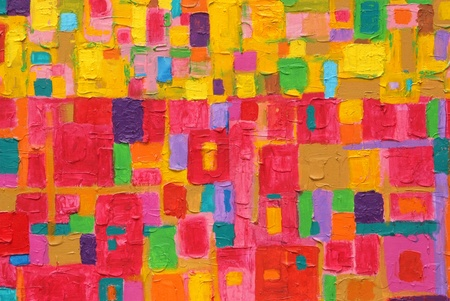 Texture, background and Colorful Image of an original Abstract Painting on Canvas  Banque d'images