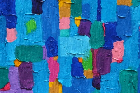 beautyful:  Blue Land 2013  Texture, background and Colorful Image of an original Abstract Painting on Canvas