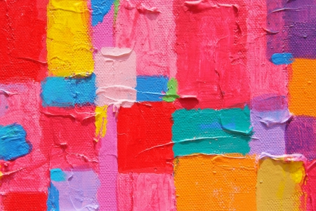 Red painting  Texture, background and Colorful Image of an original Abstract Painting on Canvas