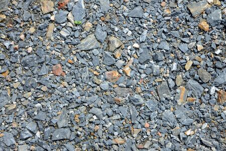 Crushed rock Different shapes and sizes for blackground