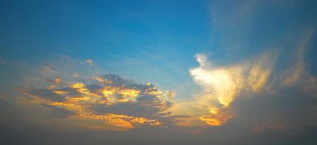 Beautiful sunrise clouds and sky. photo