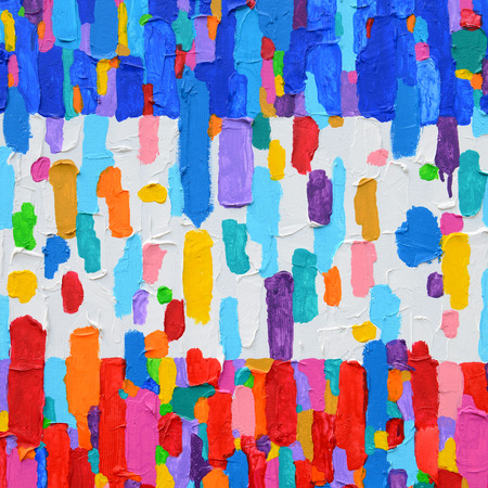 abstract painting: Texture, background and Colorful Image of an original Abstract Painting on Canvas.