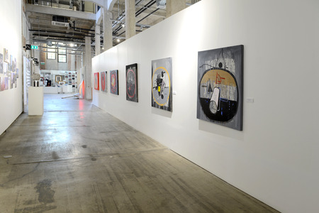 BANGKOK - JANUARY 16: Art Exhibition by Kamol Tassananchalee & Friends 71 years anniversary on January 16, 2015 at Ratchadamnoen Contemporary Art Center in Bangkok, Thailand.