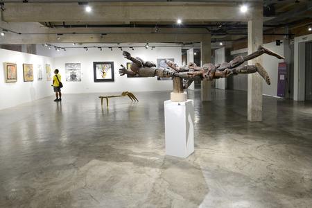 tradeshow: BANGKOK - JANUARY 16: Contemporary Art Exhibition by Kamol Tassananchalee & Friends 71 years anniversary on January 16, 2015 at Ratchadamnoen Contemporary Art Center in Bangkok, Thailand.