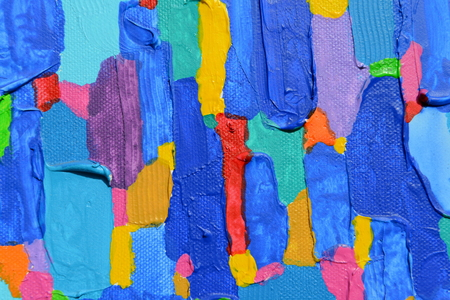 Texture, background and Colorful Image of an original Abstract Painting on Canvas. photo