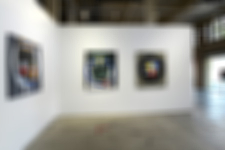 Art gallery generic background. Intentionally blurred editing post production. Banco de Imagens