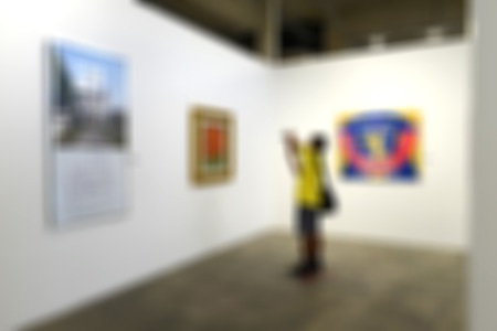 Art gallery generic background. Intentionally blurred editing post production. Stock Photo