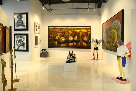 BANGKOK - NOVEMBER 28: Thai Contemporary Art Exhibition on November 28, 2014 at Hof Art Gallery, Bangkok, Thailand. Éditoriale