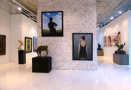 BANGKOK - NOVEMBER 28: Thai Contemporary Art Exhibition on November 28, 2014 at Hof Art Gallery, Bangkok, Thailand. Editorial