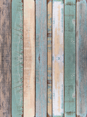 grunge wood: Wall and floor old color wood plank texture for background Stock Photo