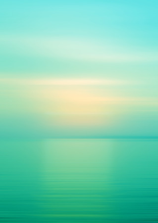 ocean background: Abstract background motion blurred of refraction in water with sunset on the sea at twilight times.