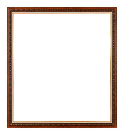 mirror frame: Antique bronze frame isolated on the white background