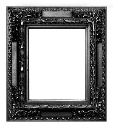 Antique black frame isolated on the white background vintage style Banque d'images