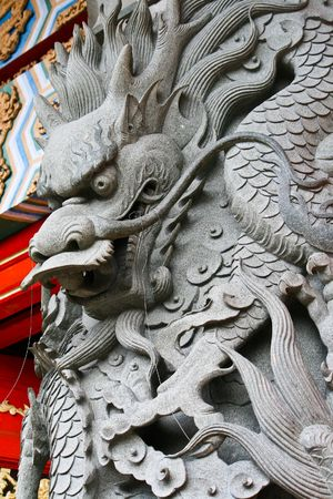 stone carvings: Chinese dragon stone