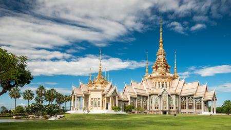 the emerald city: Wat Sorapong public temple in Thailand  treasure of Buddhism Landmark Stock Photo