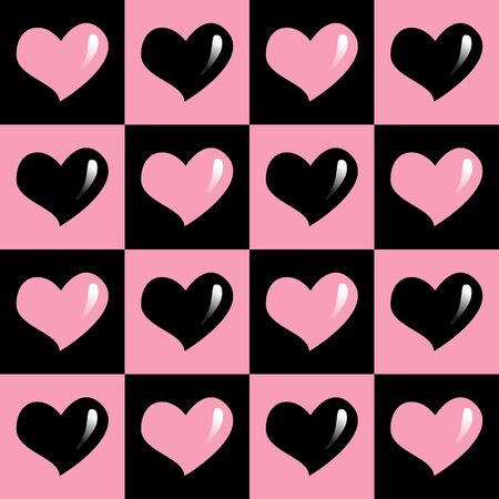 seamless pattern of colorful hearts in a square for valentines. Heart vector. Hearts symbol of valentiness day.