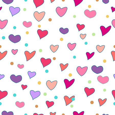 Colorful of Heart seamless pattern for valentines.