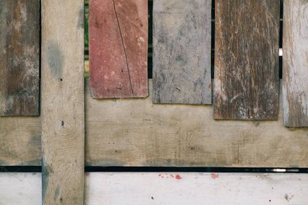 Vertical line of brown wood wall. Wooden vintage wall for background or backdrop