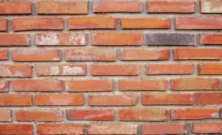 Blurred of Orange old brickwork for background or backdrop Standard-Bild