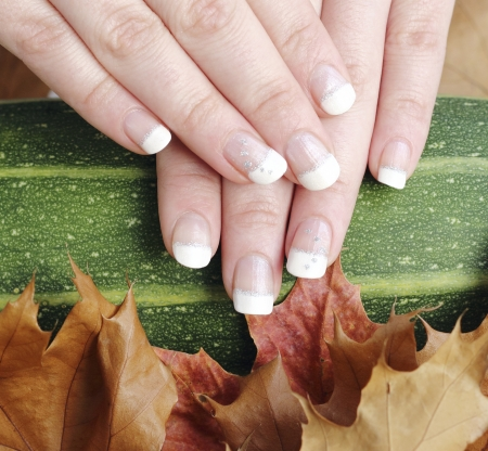 goodies: autumn goodies and french nail manicure