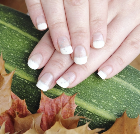 goodies: French manicure autumn in the goodies background