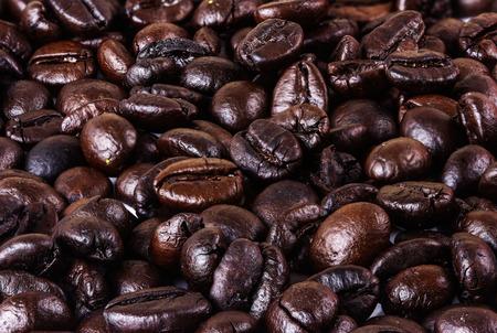 cafe colombiano: los granos de caf� bellas fondo Foto de archivo