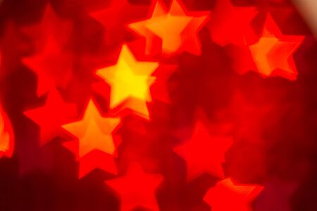 loopable: Christmas abstract background,flying star bokeh particles Loopable