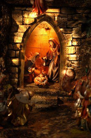 Weihnachten Krippe in Österreich  Standard-Bild - 5683532