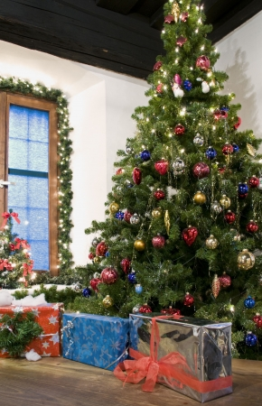 traditional living room: Rural Christmas Celebtration in Austria