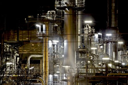 Detail of a Steel Industry at Night, taken in Austria Stock Photo - 5745868