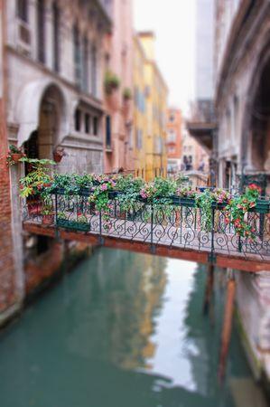 Romantic Bridge in Venice with Vignette Blur Stock Photo - 5961389