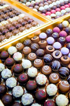Collection of Pralines Stock Photo