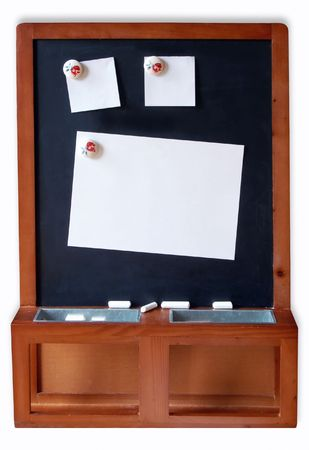Blackboard with empty Notes photo