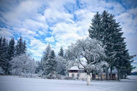 Austrian Farmhouse in Winter Stock Photo - 6325353