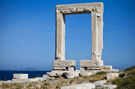 Portara, the Temple of Apollo in Naxos, Greece Stock Photo - 6884373