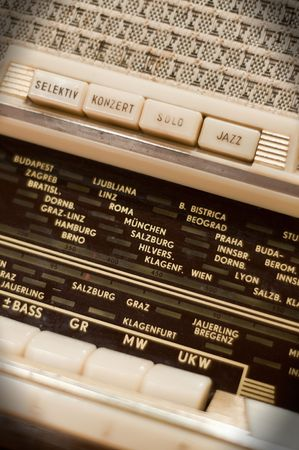Detail of an antique Radio Stock Photo - 6884394