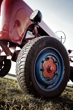 Red old Tractor photo