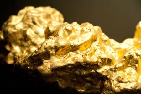 Ravvicinata di un Golden Nugget  Archivio Fotografico