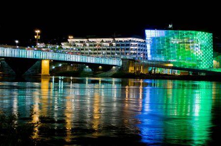 linz: Colorful Cityscape in Linz, Upper Austria Stock Photo